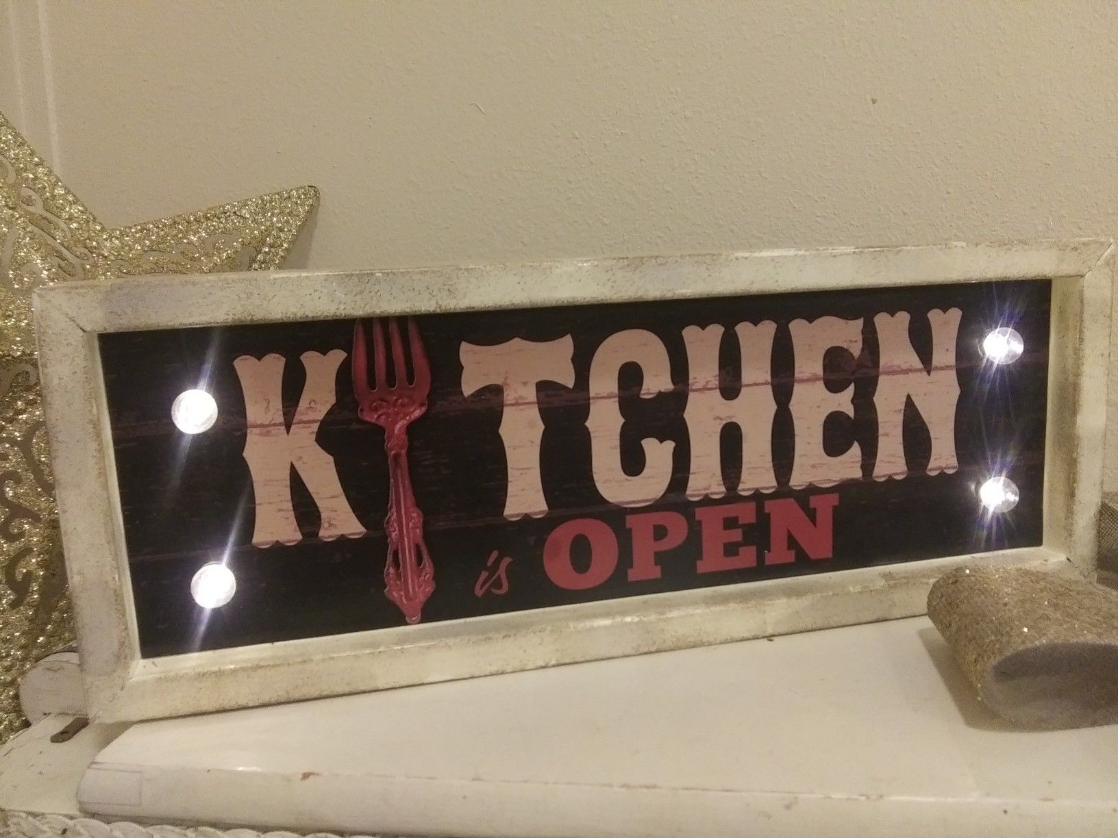Vintage Light Up Marques Kitchen OPEN Sign