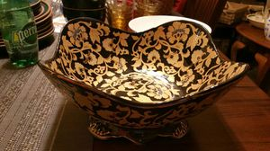Gold and black decorative bowl for Sale in Fairfax, VA