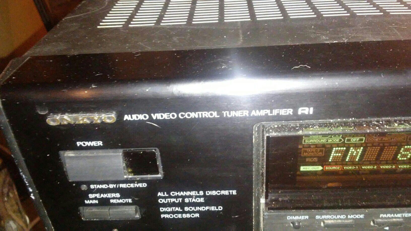 Onkyo audio video control tuner amplifier