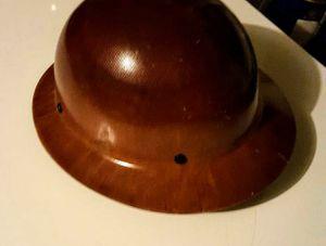 Photo Brand new Brown fiberglass full brim hard hat!! $75 obo
