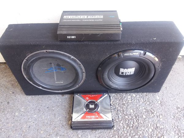 2 12 Alpine Subs And 2 Amps For Sale In Everett WA