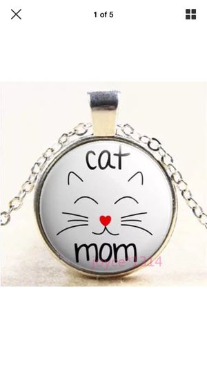 Cat Mom Quote Cabochon Glass Necklace for Sale in Chula Vista, CA
