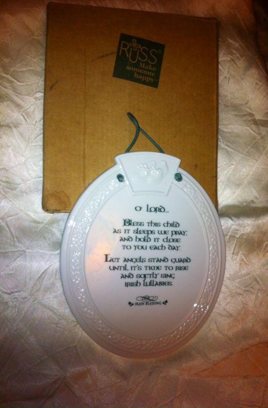 Celtic Blessings Porcelain Plaque.