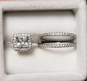 925 Stamp Silver Wedding Band Ring Set Sz 7 for Sale in Aspen Hill, MD