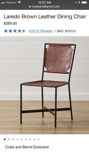 Tremendous Contemporary Set Of Four Laredo Brown Leather Chairs By Machost Co Dining Chair Design Ideas Machostcouk