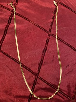 Photo Brand new sterling silver 14k gold plate chain