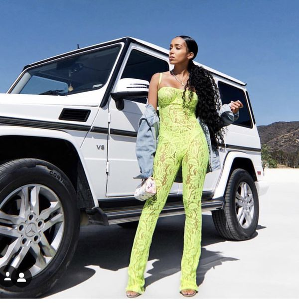 6a121714ba9c Matte brand lace lime Jumpsuit for Sale in Hamilton Township