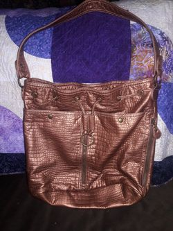Bueno Copper drawstring purse Thumbnail