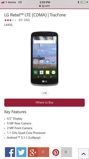LG Rebel™ LTE (CDMA)   TracFone   8GB for Sale in Wayne, NJ - OfferUp