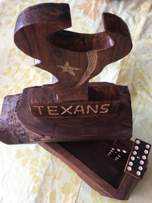 Custom Texans domino set for Sale in Channelview, TX