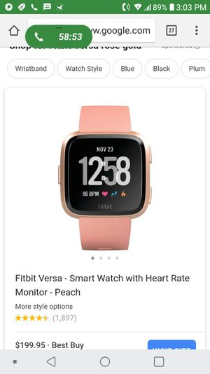Fitbit versa for Sale in Silver Spring, MD