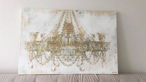 Oliver Gal Gold Chandelier Painting for Sale in Boston, MA