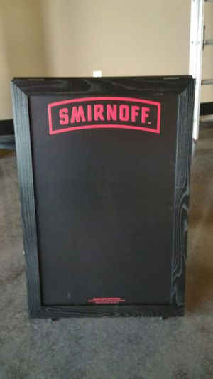 Smirnoff 2 sided chalkboard for Sale in St. Louis, MO