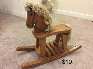 Wooden rocking horse for Sale in Bowie, MD