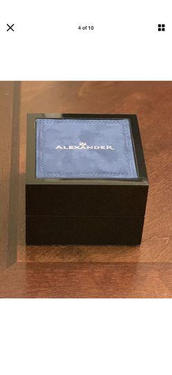 Alexander Men's Rose Gold Stainless Steel Link Bracelet Quartz Watch Thumbnail