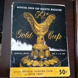 1957 Official Gold Cup Regatta Magazine  Thumbnail