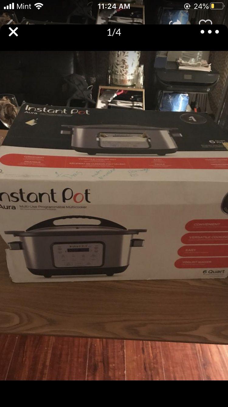 Instant pot aura pressure cooker