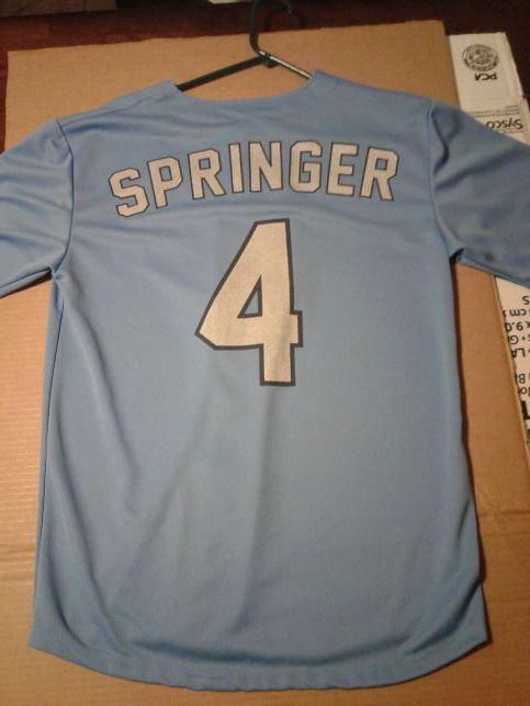 best loved 6f5ff 40bc8 Houston Astros George Springer CC HOOKS SGA Adult Jersey Size L for Sale in  Corpus Christi, TX - OfferUp