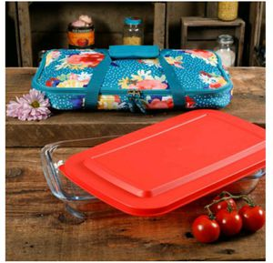 Photo Pioneer Woman Fiona Floral 3 Qt Baker with Tote