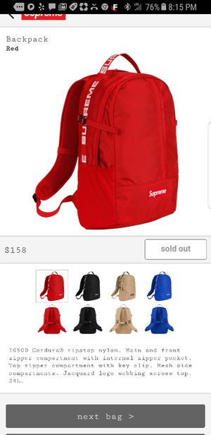 8062030d85d640 Supreme Backpack for Sale in Chapel Hill