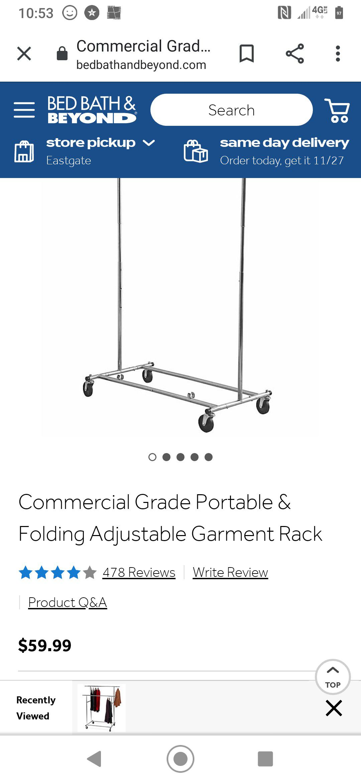 Single rolling coat hanger
