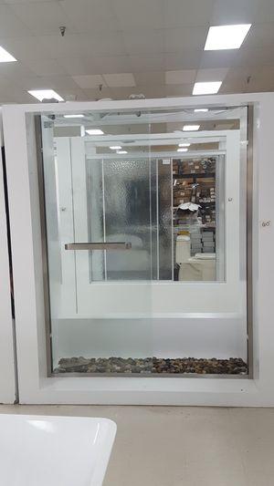 Brushed nickel shower door for Sale in Orlando, FL