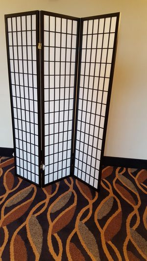 Brand New 3 Panel Black Wood Room Divider for Sale in Silver Spring, MD