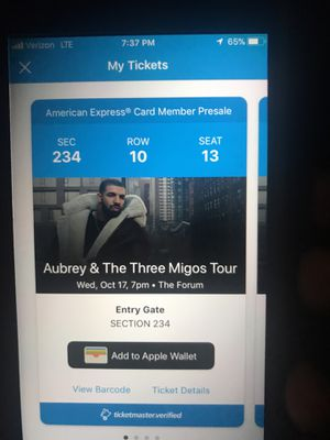 Drake Tickets NOW!!!! HURRY WONT LAST!!! First offer its yours!!! for Sale in Los Angeles, CA