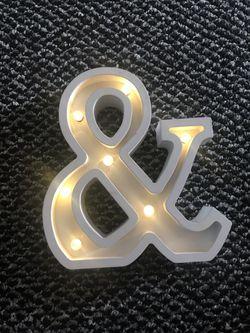 Light up Ampersand Thumbnail
