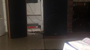 2 sets of Fisher speakers 1 set if 12s 1 set of 15s, with Rca bluetooth receiver for Sale in Cleveland, OH
