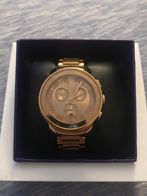 142a44143 Movado BOLD Womens Cronograph Rose Gold (brand new in box) for Sale ...