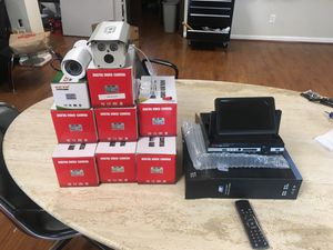 Camera kit 8ch with LCD DVR laser IR for Sale in Houston, TX