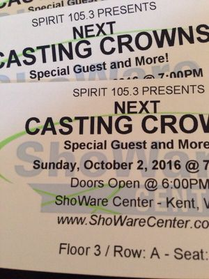 2 Casting Crowns Front Row Tickets for Sale in Seattle, WA