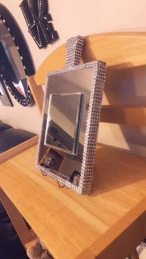 Handcrafted 8x10 silver mirrored Wall Decor ( Perfume bottle) for Sale in Waldorf, MD