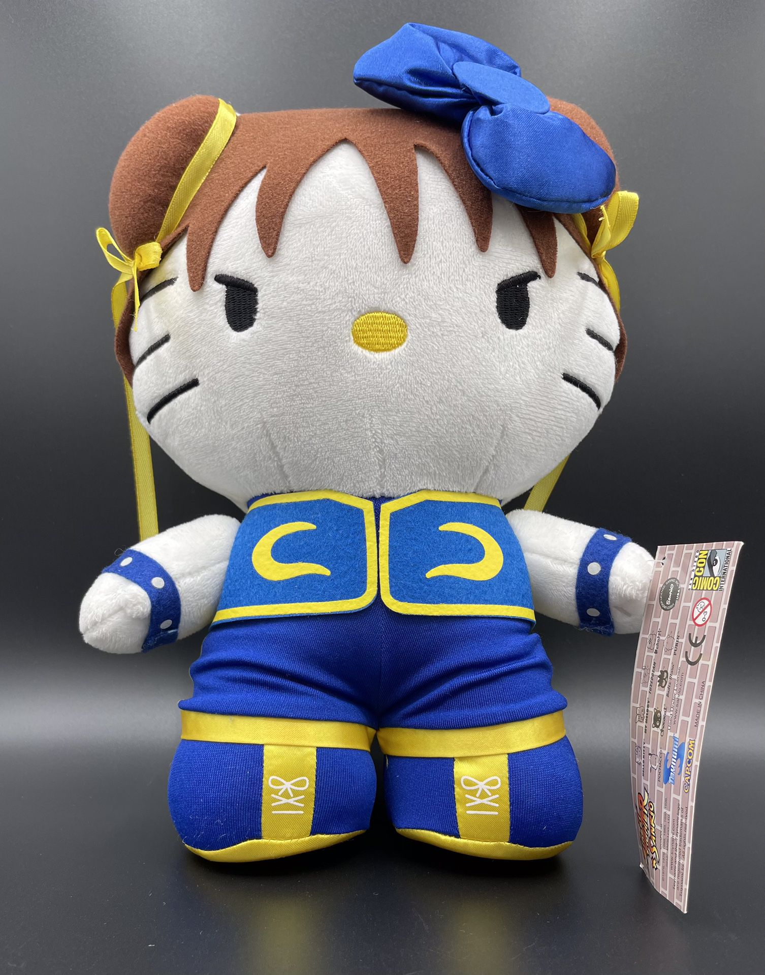 "Street Fighter X Sanrio Chun Li Plush Figure - 11"" Comic-con 2012 Capcom Exclusive - New With Tags"