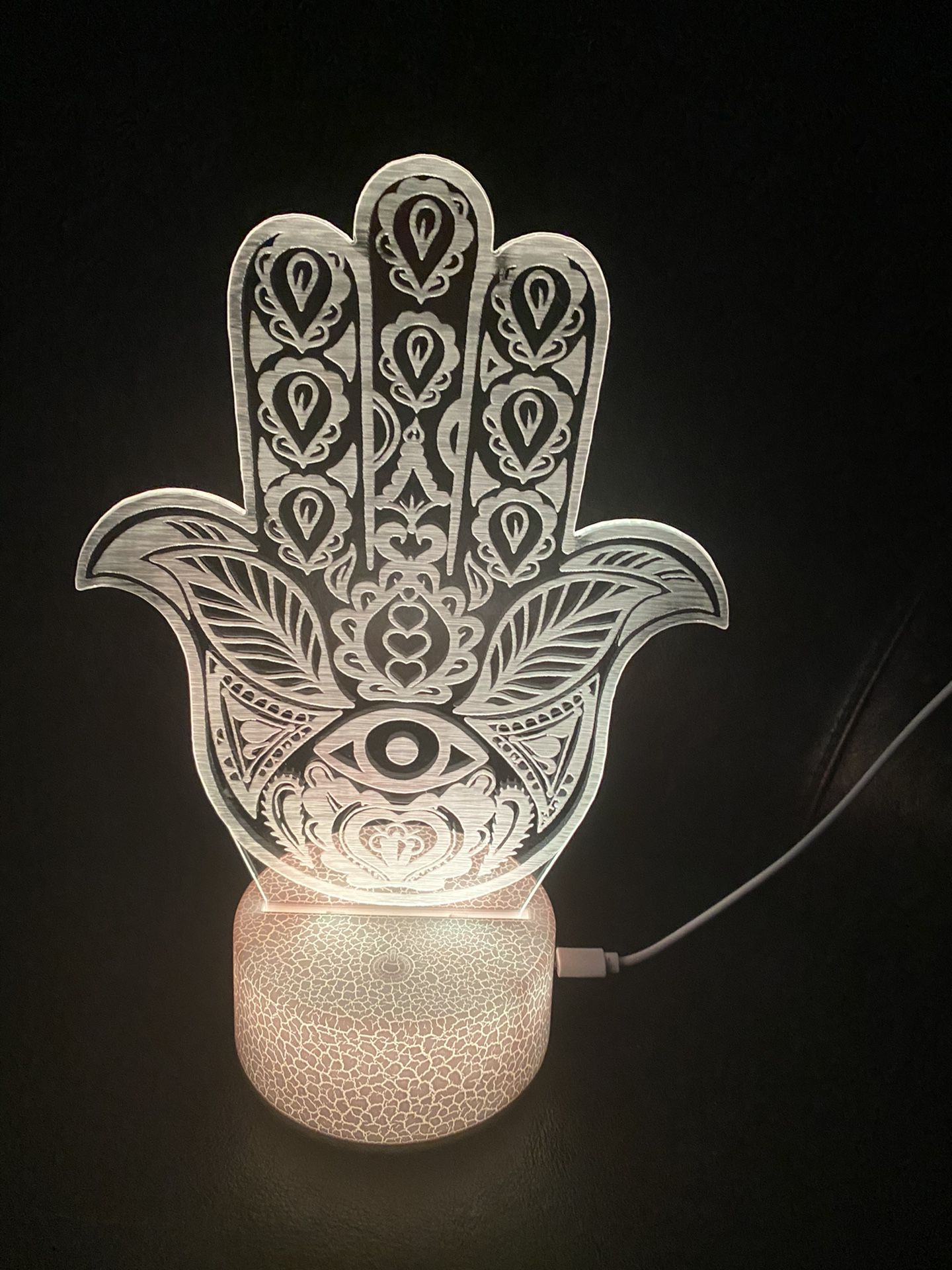 Beautiful Hamsa Hand Evil Eye 🧿 Custom 3d Lamps