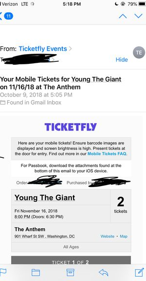 Young the Giant 2 Tickets for Sale in undefined