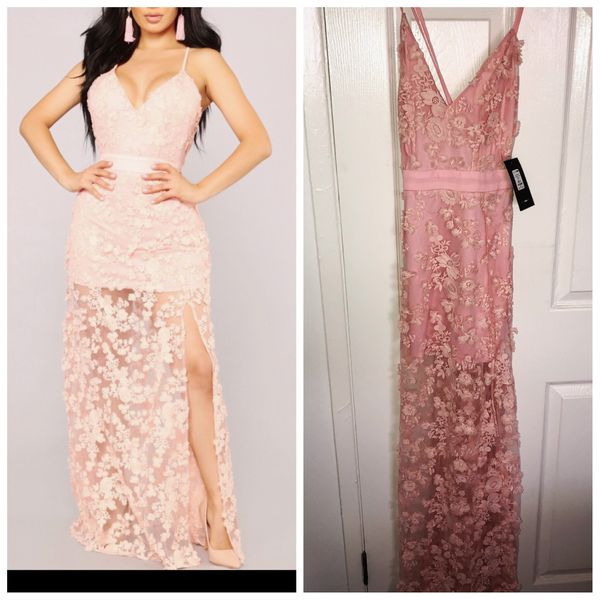 622bee34f32be Fashion Nova Blush Embroidered Dress. Size Small for Sale in ...