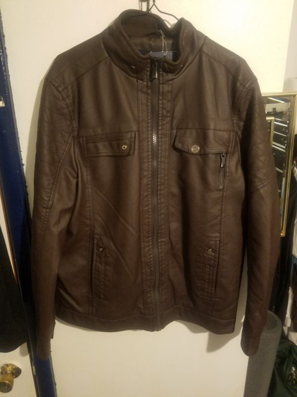 118fe05316f J.H.N.S.J Leather Jacket Brown for Sale in Muskegon