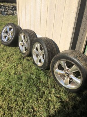 Stock Mustang Wheels with brand new Goodyear Tires (100%) for Sale in Grand Prairie, TX