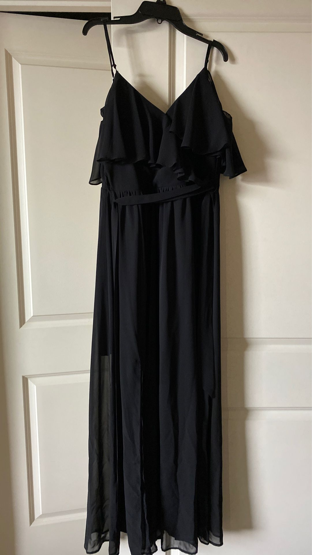 Black formal dress with sleeves