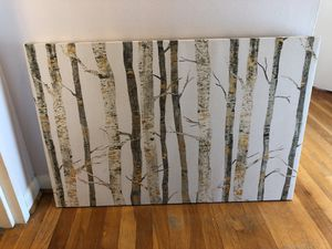"Gold and silver tree wall art canvas 36"" x 24"" for Sale in Washington, DC"