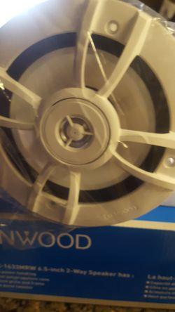 Kenwood 6.5 2way speakers Thumbnail