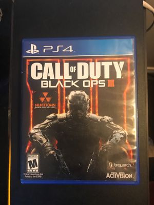 Black Ops 3 PS4 for Sale in Gainesville, VA