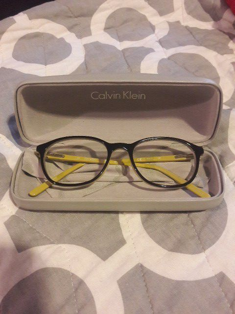 dc509a30ae Calvin Klein glasses frames CK5878 (973) Black   yellow for Sale in ...