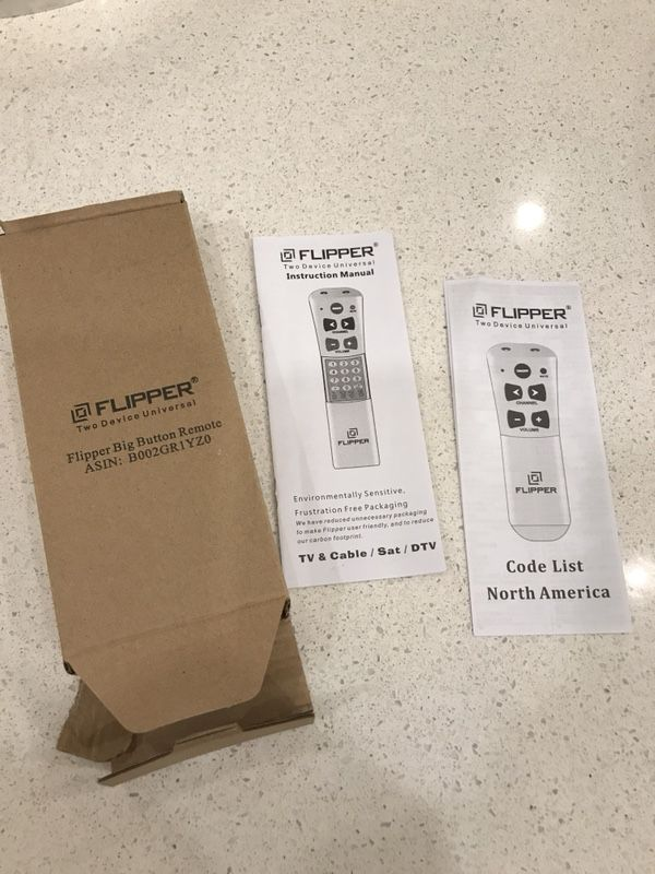 Large Button SIMPLE Remote Control -Flipper New In Box w Instructions Never  Used for Sale in Birmingham, AL - OfferUp