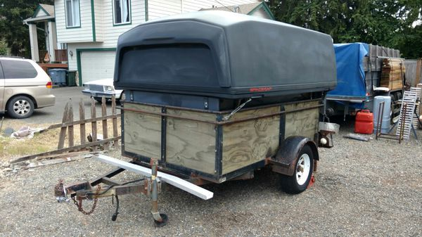 Trailer Utility and canopy / camper for Sale in Bonney Lake, WA - OfferUp