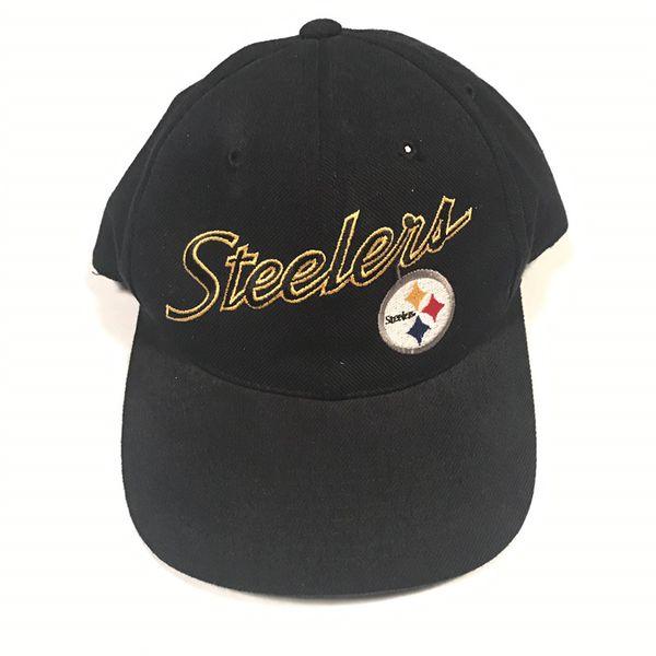 Vintage 90s Pittsburgh Steelers Sports Specialties Script NFL Black  SnapBack Hat Cap Football Nike Jersey Supreme Bape Starter 9ba316e2a825
