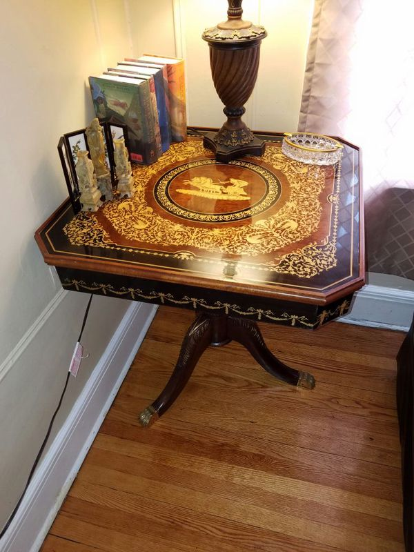 Notturno Intarsio Soro Italy Italian Game Table Roulette Chess Inlaid Wood For In Kearny Nj Offerup