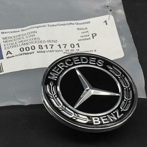 Mercedes flat hood emblem Black for Sale in Coram, NY